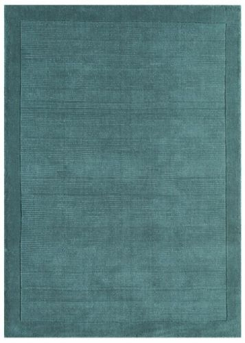 York Teal 100% Wool Rug